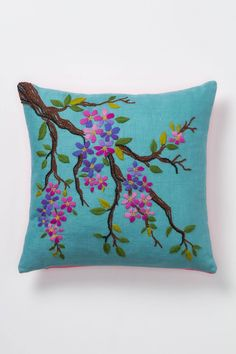 tufted dogwood pillow -- so super gorgeous