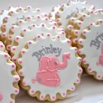 It's a Girl! Pink Elephant Baby Shower Cookies.