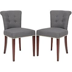 Carrie Charcoal Grey Side Chair (Set of 2)