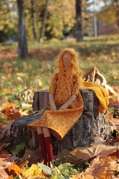 Куклы Тильды ручной работы. Ярмарка Мастеров - ручная работа Осенняя Тильда. Handmade.