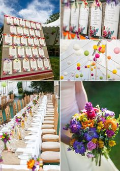 blog version rustic country flowers bright vintage wedding seating table plan by in the treehouse
