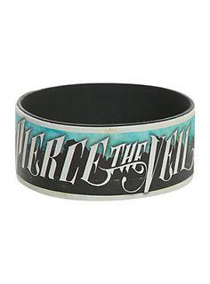 "Rubber bracelet from Pierce The Veil with <I>Collide with the Sky</I> design.<ul><li> 1"" wide</li><li>Imported</li></ul>"