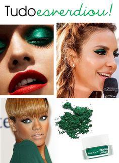 Maquiagem: Esverdiou!