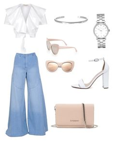 """""""White and denim with some nude"""" by jaylap11 on Polyvore featuring Temperley London, Kenzo, Maison Margiela, Marc by Marc Jacobs, My Delicious, Givenchy and STELLA McCARTNEY"""