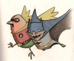 Batman and Robin...get it?! :P
