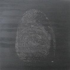 Autor: Alvaro Cuevas  Titulo: Dactil Grafito  Tecnica: Grafito  Medidas: 1.2 m X 1.2 m