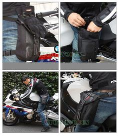 Men's Motorcycle Travel Riding Fanny Pack Waist Thigh Drop Waterproof Leg Bag