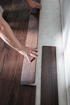 IHeart Organizing: Do it Yourself: Floating Laminate Floor Installation