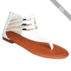 Strappy Gladiator Flat Sandal - Women's Size 6.5