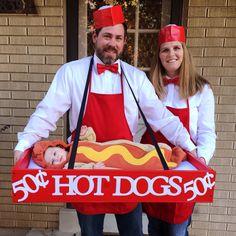 baby hotdog costume - Family Halloween costumes - family halloween costumes with baby