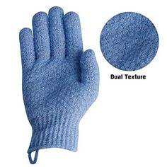 EvridWear Exfoliating Dual Texture Bath Gloves for Shower, Spa, Massage and Body Scrubs, Dead Skin Cell Remover, Gloves with hanging loop Pair Heavy Glove) Spa Shower, Shower Gel, Salt Body Scrub, Exfoliating Gloves, Male Makeup, Dead Skin, Bath, Smooth Skin, Healthy Skin
