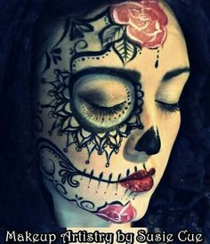 young boy sugar skull face painting - Google Search