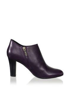 Purple Leather Geox Booties