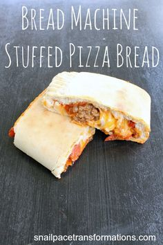 Bread Machine Stuffed Pizza Bread - Money Saving Mom®