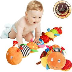 Baby Stroller Pendant Plush Fish Cartoon Mirror Pacifier Hanging Bed Cute Toys Soft Squeaky Rattle Newborn Sleeping Infant Kids Crazy Price Activity & Gear