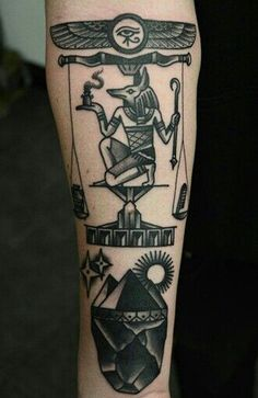 Тату Анубис. Значение татуировки Анубиса, эскизы и фото