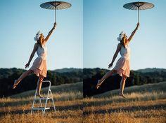 Levitationsfotosaller Artgehören noch immer zu den großen Trends in der Sparte Fotografie. Man wird eben immer kreativer und so wird auch immer mehr Photoshop eingespannt, um zu traumhaften Ergebnissen zu kommen. Die Kunst dabei ist es, dass die Bilder t