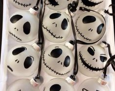 Jack Skellington Ornaments One Dozen by creativesavant on Etsy