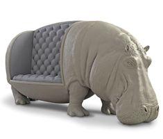 Nilpferd Sofa Handcraftet