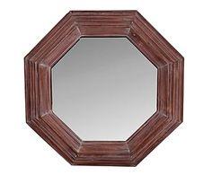 Espejo de pared en madera de abeto - Ø80cm