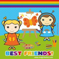 Butterfly Belle & Rainbow Belle are the best of friends! Send in pics with your best friend for a Magic Belles makeover! flutterbudclub@magicbelles.com ♥
