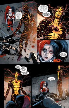 Harley Quinn and Reverse Flash on becoming monsters. 2
