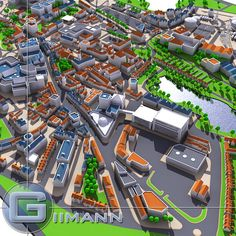 City Map Model available on Turbo Squid, the world's leading provider of digital models for visualization, films, television, and games. World Map Game, Building Map, City Model, Game Environment, Isometric Design, Low Poly Models, Landscape Architecture Design, City Maps, Urban Planning