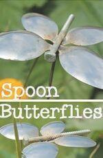 DIY Spoon Butterfly Garden Stakes - My Gardening Space Metal Yard Art, Scrap Metal Art, Garden Crafts, Garden Art, Garden Stakes, Garden Junk, Herbs Garden, Garden Design, Butterfly Crafts