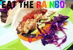 Rainbow Fish Tacos | Nosh and Nourish