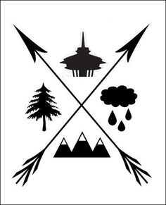 Items similar to PNW Print on Etsy the pacific northwest, this is very Wes Anderson to me . Seattle Tattoo, Tree Wall Art, Future Tattoos, Pacific Northwest, North West, Cool Tattoos, Tatoos, Illustration, Artsy