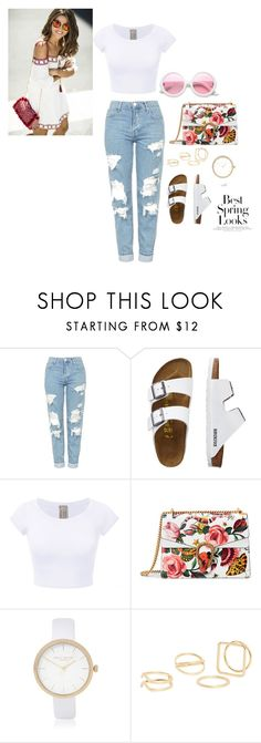 """casual look for beach time"" by chisomnatalie on Polyvore featuring Topshop, TravelSmith, Gucci, River Island, MANGO, ZeroUV and H&M"