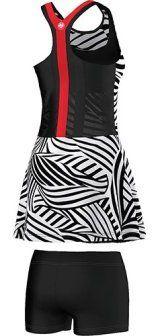 Ana Ivanovic's Y-3 Adidas dress for Roland Garros 2016 - print back