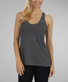 Take a look at this Heather Charcoal Racerback Tank by Marika on #zulily today! $12.99