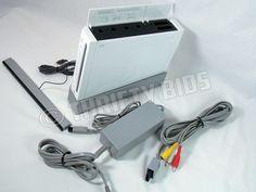 Nintendo Wii RVL-001 USA Console Bundle White NTSC W GameCube Ports No WiiMotes  #Nintendo