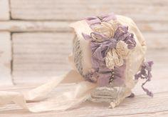 Sophia newborn Bonnet for Baby Girl pink silk  by thetreetopshoppe, $36.00