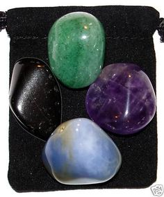 MOTIVATION Tumbled Crystal Healing Set  4 by TheMagicIsInYou, $4.99