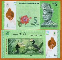 Malaysia 5 Ringgit ND 2012 P New UNC Polymer   eBay