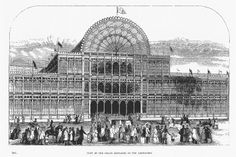 Metal - iron:  Crystal Palace by Joseph Paxton, 1851 Paris World's Fair