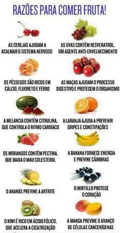 razão para comer frutas