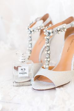 Jewel Encrusted T-Bar Shoes | Woodland Fairy Tale | Backyard Wedding | Summer Lily Studio | Oleg Cassini at David\'s Bridal