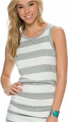 Stripe tank dress in gray http://www.swell.com/Womens-Dresses/SWELL-CHARO-STRIPE-TANK-DRESS?cs=BL