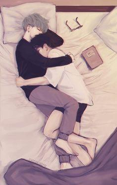 Yoongi and Jimin fanart - wonderlandfaraway - yaoi-blcd Yoonmin Fanart, Jimin Fanart, Vkook Fanart, Namjin, Drarry, Gay Couple, Couple Art, Fan Art, Poster Design