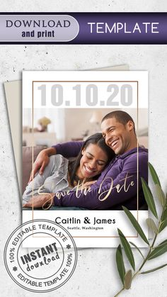 The template is intended for editing and further printing of this file at home, online printer, or local printing house… #save_the_date_cards #templates_save_the_date #cards_for_wedding #save_the_date_cards_rustic #vintage_save_the_date_cards #modern_save_the_date_cards #handmade_save_the_date_cards