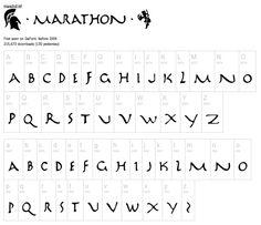 Greek typography style