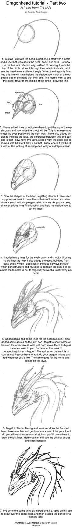 Dragonhead Tutorial part two by *alecan on deviantART