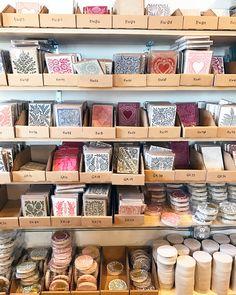 Behind the Stationery: Katharine Watson Shop Organisation, Storage Room Organization, Shop Storage, Market Displays, Craft Show Displays, Store Displays, Card Displays, Business Storage, Craft Business