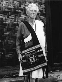Marie Byles with Buddhist sash