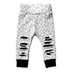 a32332a09c7 black and white hipster baby clothes gender neutral unisex leggings for  baby boy and baby girl toddler kids fashion ripped leggings guitar pattern  baby ...