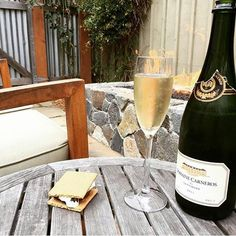 The perfect ! to any day. #regram from @jpnewt82. #napavalley #carneros #napa #visitnapavalley #wine #vino #chocolate #bubbles #fireside