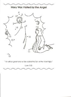 The Angel Visits Mary Coloring Page